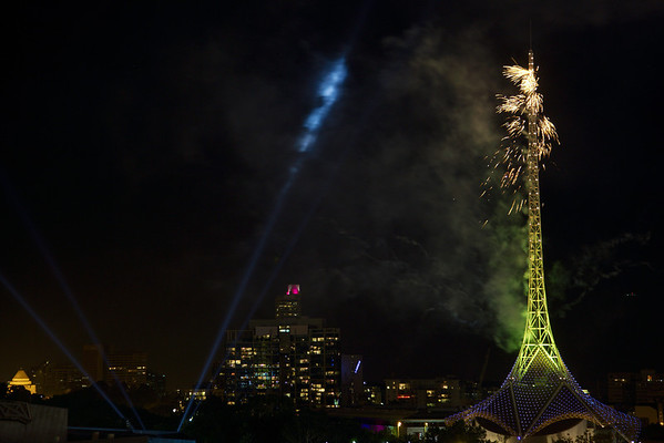 The Great Melbourne Spire Fire 2012